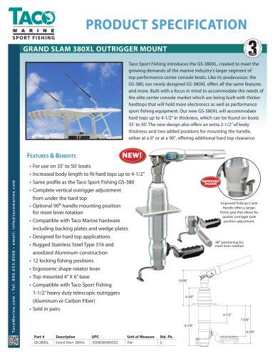 GS-380XL Grand Slam 380XL Outrigger Top Mount
