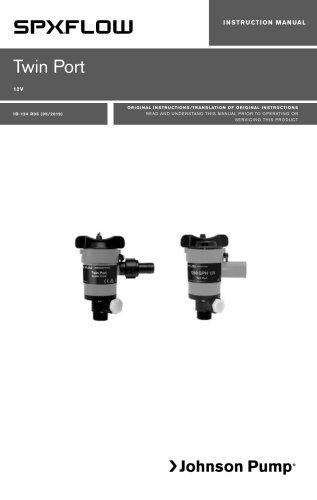 Twin Port Aerating Pumps Manual - US, EN, DE, ES, FR, IT, SV
