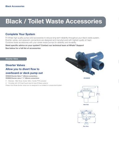Black / Toilet Waste Accessories