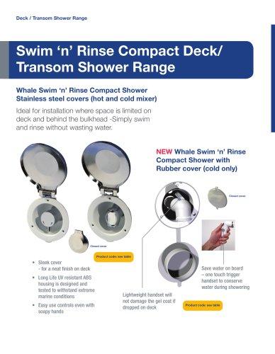 NEW Swim 'n' Rinse Compact Deck Shower