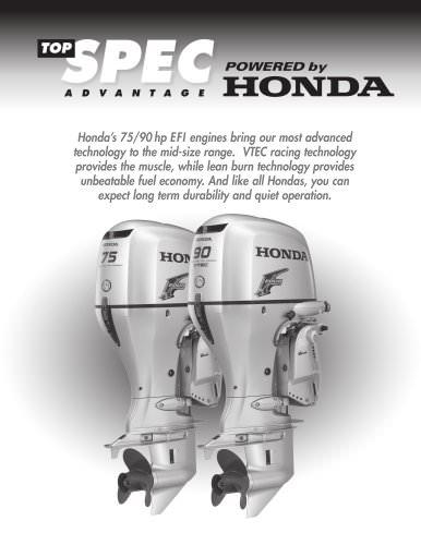 Honda's new 75/90HP EFI Engines