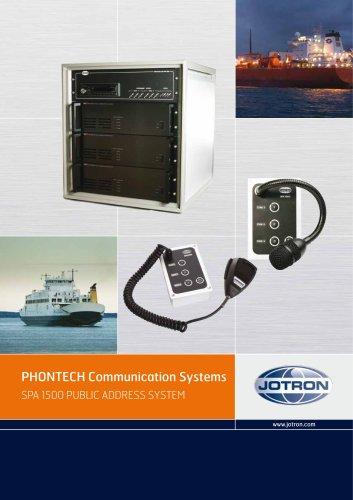 SPA 1500 PUBLIC ADDRESS SYSTEM