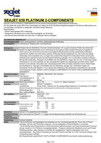 Seajet 039 Platinum DE