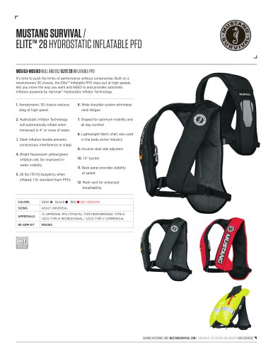 ELITE™ 28 HYDROSTATIC INFLATABLE PFD