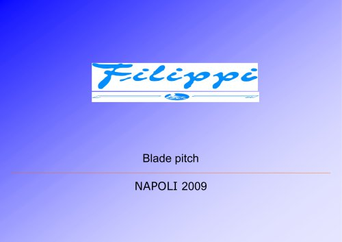 The blade pitching