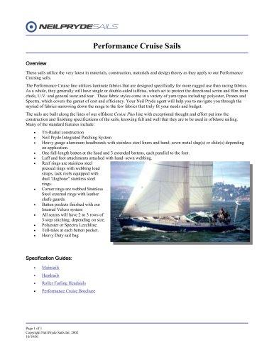 performance cruise
