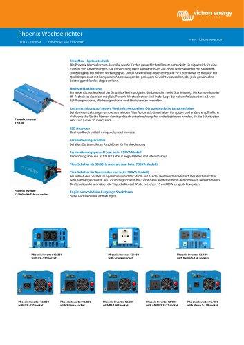 Phoenix Wechselrichter         180VA ? 1200 VA 230V/50Hz und 110V/60Hz