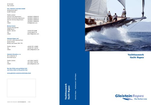 Yacht Rope catalogue 2008