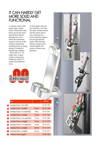 Forestay fixtures