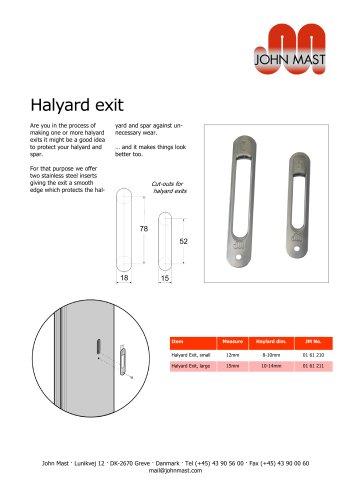 Halyard exits