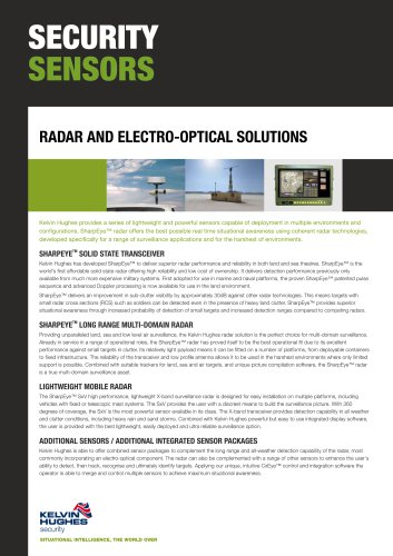 Radar and electro-optical solutions