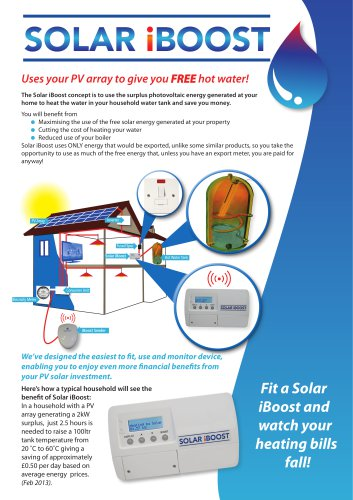 Solar iBoost ? Free Hot water from your PV Array