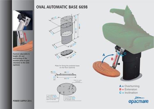 AUTOMATIC pedestal base model 6698