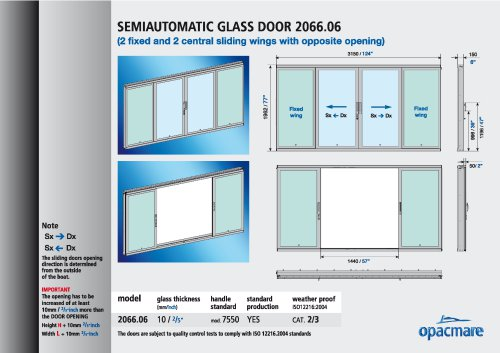 semi-automatic side door 2066.06