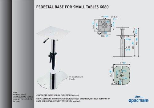 table bases model 6680