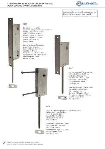 Lock with 2 screws m5x75 mm