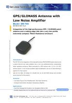 GPS/GLONASS Antenna with Low Noise Amplifier