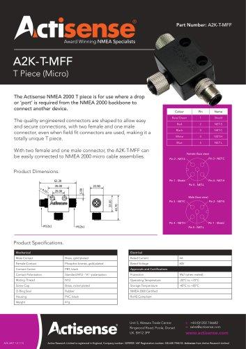 A2K-T-MFF NMEA 2000 Micro T Piece