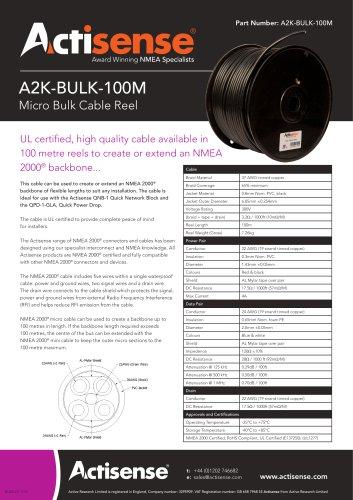 NMEA 2000 Bulk Cable Reel A2K-BULK-100M