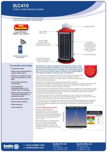 SLC410 3-5nm+ Solar Marine Lantern