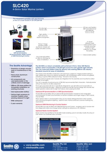 SLC420 4-5nm+ Solar Marine Lantern