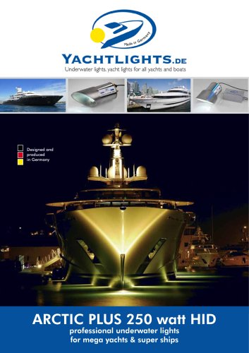 Superyacht Underwaterlights Arctic-Plus 250W HID