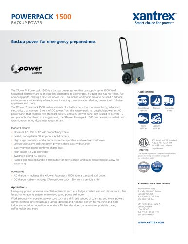 XPower Powerpack 1500