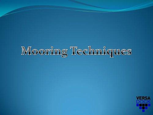 Mooring Techniques Presentation