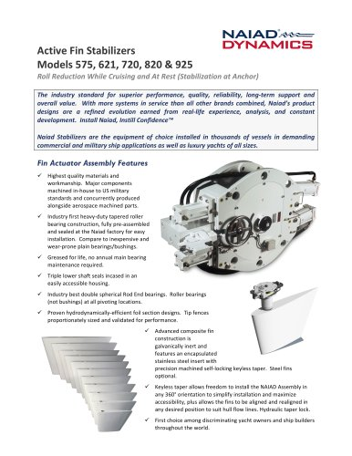 Active Fin Stabilizers 575 - 621 - 720 - 820 - 925