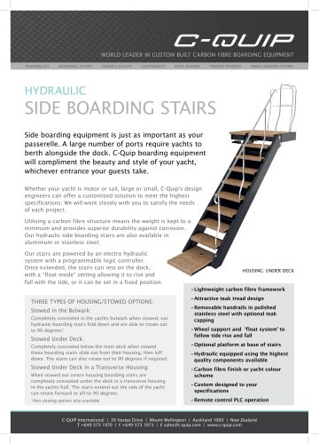 HYDRAULIC SIDE BOARDING STAIRS
