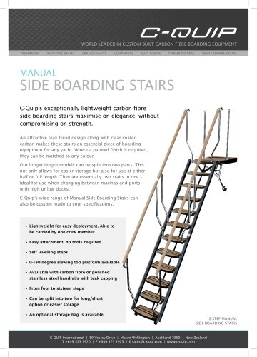 MANUAL CARBON FIBRE SIDE BOARDING STAIRS