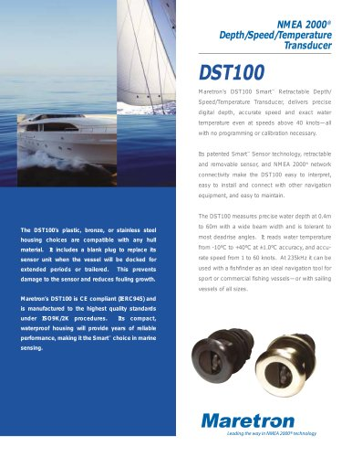 Depth/Speed/Temperature Transducer (DST100)