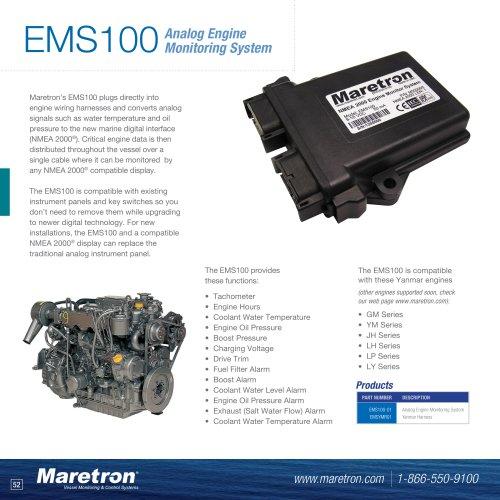EMS100 analog engine monitoring system