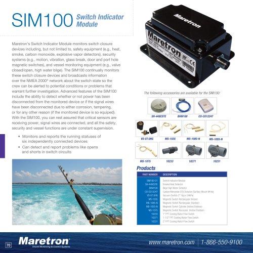 SIM100 switch indicator module