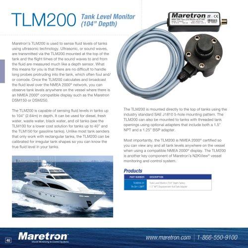 "TLM200 tank Level monitor (104"" depth)"
