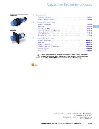 Capacitive proximity sensors