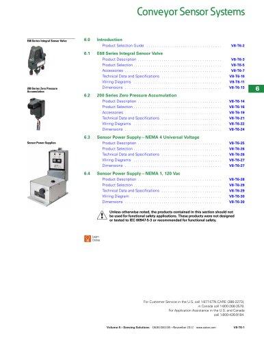 Conveyor sensor systems