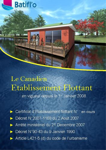 floating house CANADIEN