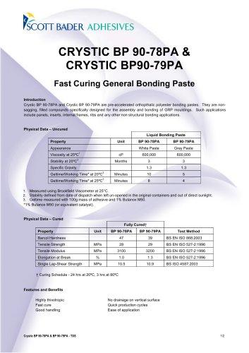 CRYSTIC BP 90-78PA & CRYSTIC BP90-79PA
