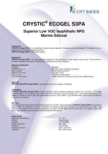 CRYSTIC ® E COGEL S3PA