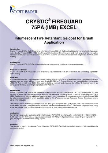 CRYSTIC ® FIREGUARD 75PA (IMB) EXCEL