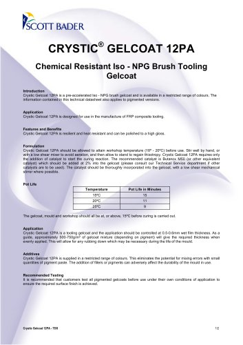 CRYSTIC ® GELCOAT 12PA