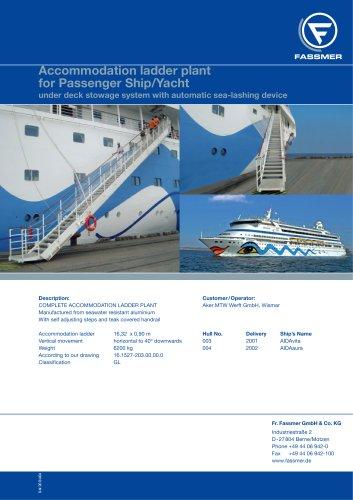 Accommodation ladder plant for Passenger Ship/Yacht