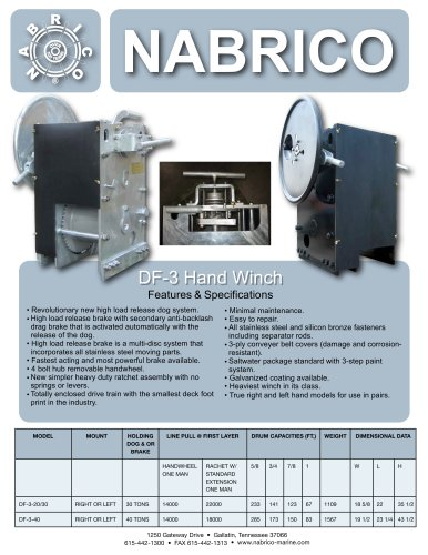 DF-3 Manual Winch
