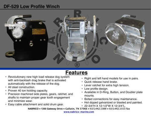 DF-529 Low Profile Winch 2