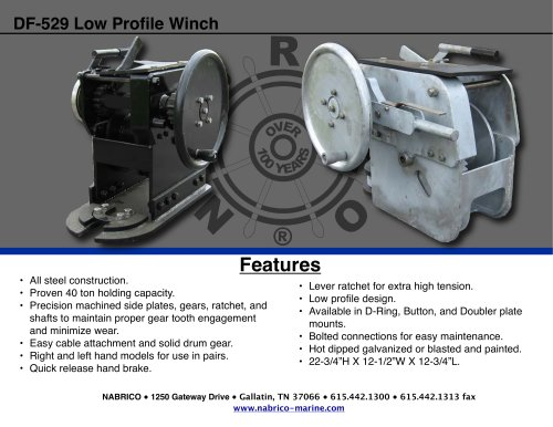 DF-529 Low Profile Winch