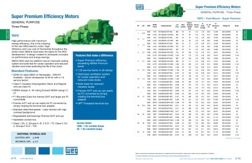 Super Premium Efficiency Motors
