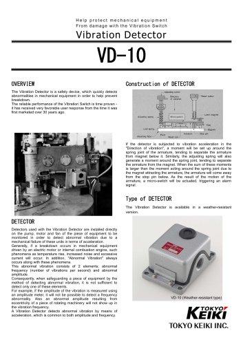 Vibration Detector VD-10 [PDF]