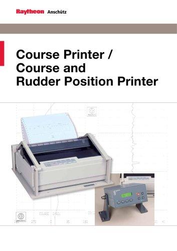 Course Printer / Course and Rudder Position Printer