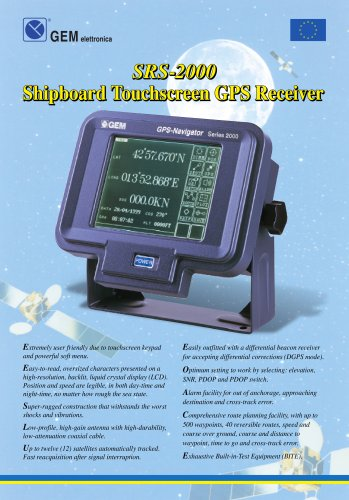 monochrome GPS for ships